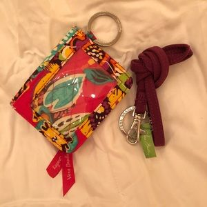 Vera Bradley Campus Double ID and Lanyard